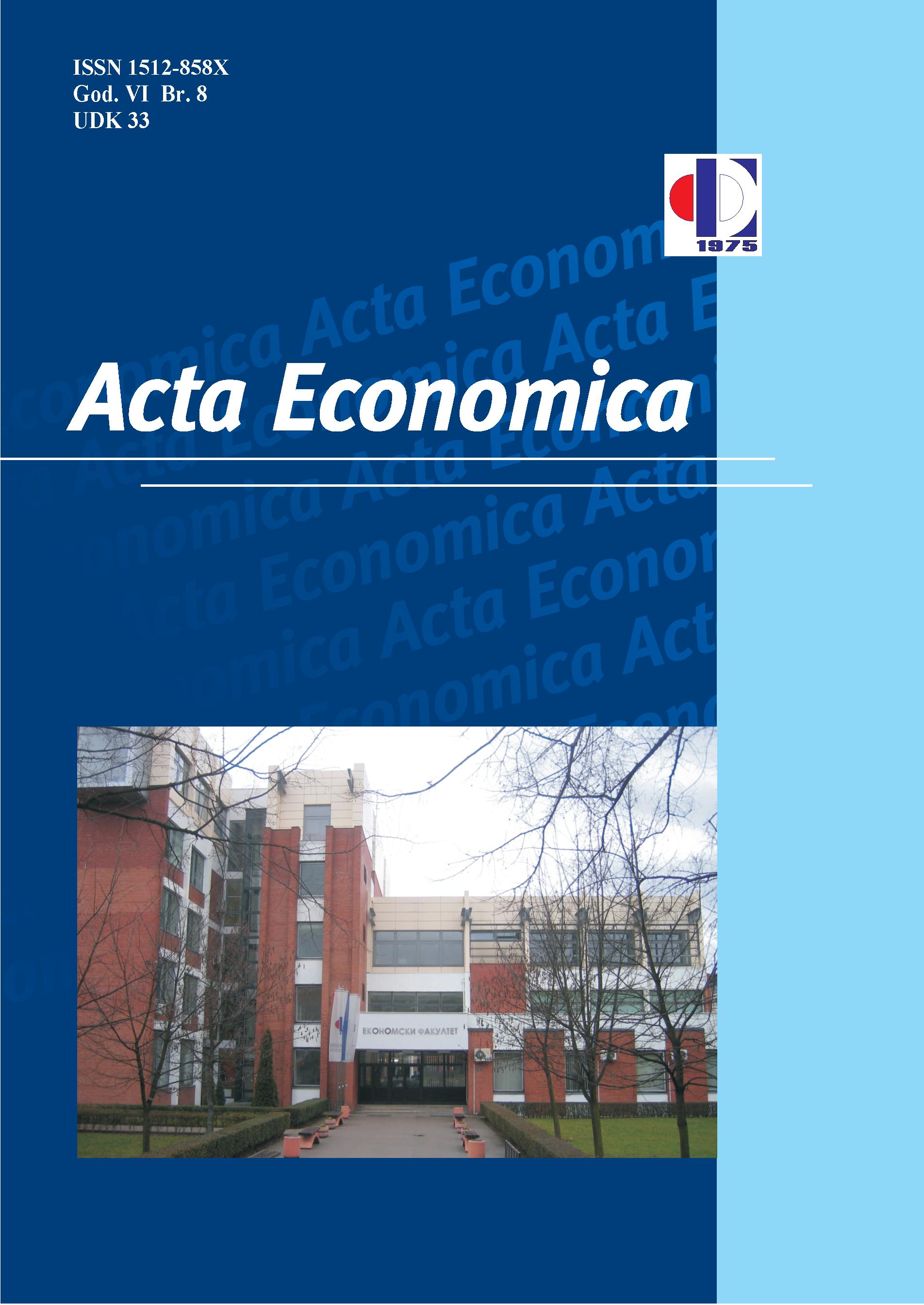 View Vol. 8 No. 13 (2010): Acta Economica